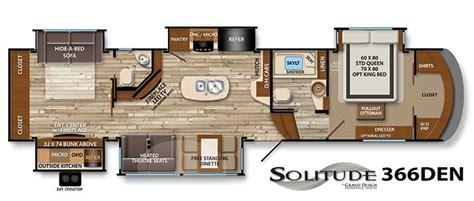 bunkhouse rv floorplans  images grand