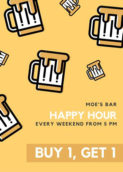 wine bar happy hour flyer templates  canva