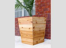 How To Build A Modern Tapered Cedar Planter Free Plans And