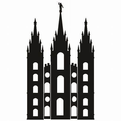 Temple Lds Salt Lake Silhouette Simple Clipart