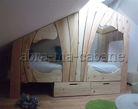 chambre fille design lit cabane bois massif enfant sequoia abra ma cabane