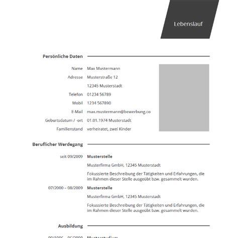 Lebenslauf Muster Word 2016 by 92 Sle Lebenslauf Muster 2016 Word