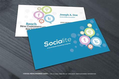 social media business cards business card templates
