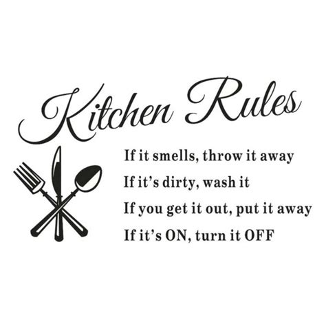 Kitchen Rules Wall Decal Only $239 + Free Shipping