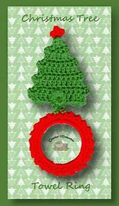 P Chart Template Christmas Tree Towel Ring Free Crochet Christmas Pattern