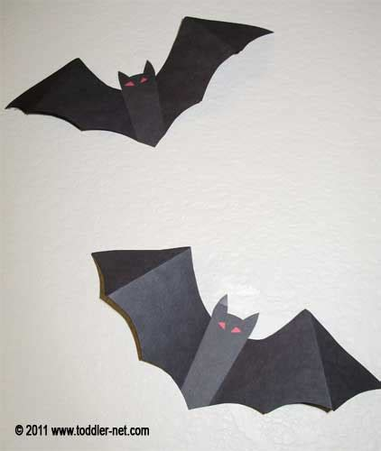 kids halloween craft paper bat