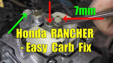 Fuel Filter Honda Pilot Atv by Honda Rancher Fourtrax Carburetor Removal And Cleaning