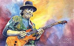 Carlos Santana Painting by Yuriy Shevchuk