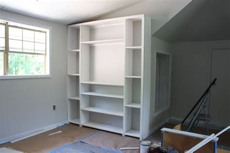 premade built in cabinets create built in shelving and cabinets on a tight budget