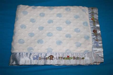 Carters Child Of Mine Sweet Little Baby Blanket Monkey Blue Polka Dot Satin Edge #carters Woolrich Down Blanket Full Size Spirit Blankets Tutorial On Making Baby Thick Wool Uk Antique Navajo Patterns Weighted For Anxiety Sleep Handmade Poem Kentucky Wildcats