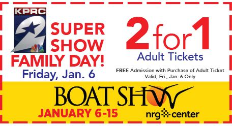 Houston Boat Show Discount by 2017 Annual Houston Boat Sport And Travel Show