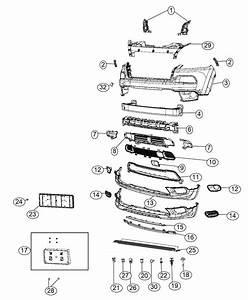 2017 Jeep Cherokee Bracket Kit  License Plate   Front