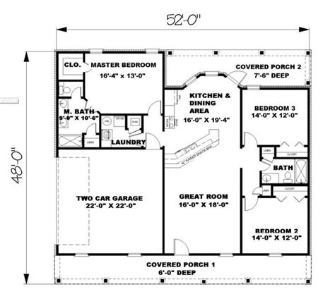 1500 sq ft floor plans ranch plan 1 500 square 3 bedrooms 2 bathrooms