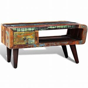 antique style reclaimed wood coffee table curved edge With curved wood coffee table