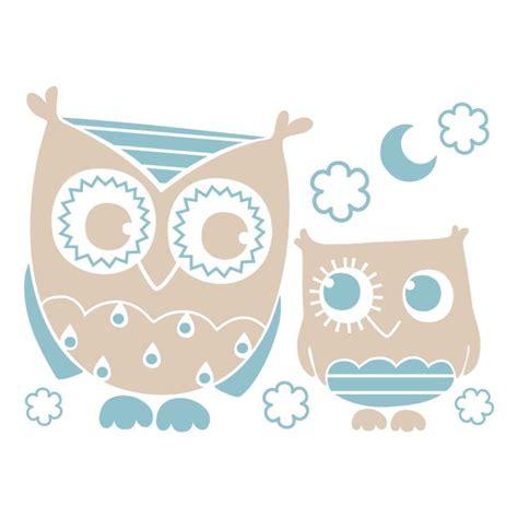 stickers chambre de bébé sticker mural quot chouette grises et bleu quot motif bébé garçon