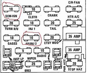 Ecm  Fuel Pump Fuse Location
