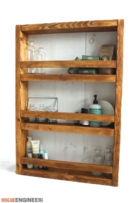 making a medicine cabinet apothecary wall shelf free diy plans rogue engineer