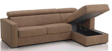 canapé lit méridienne canapé d 39 angle convertible avec têtières revêtement