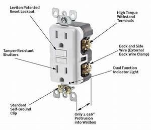 Leviton X7599 Smartlockpro Slim Gfci Tamper