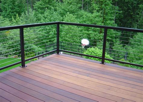 Horizontal Deck Railing Ideas by Horizontal Deck Railing The Advantages And Disadvantages