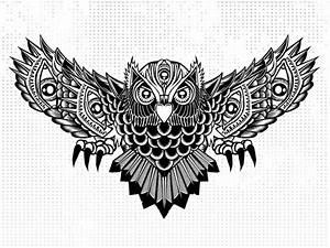 Black And White Owl Tattoo Design   www.pixshark.com ...