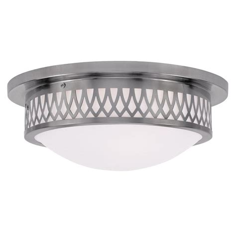 asian flush mount ceiling light thomas lighting 3 light brushed nickel ceiling flushmount