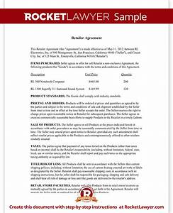 retailer agreement retail purchase agreement template With retail terms and conditions template