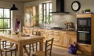 deco cuisine bois With idee deco cuisine avec chaise salle a manger en bois massif