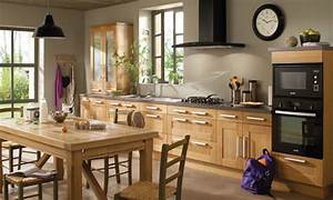 Modele de cuisine rustique cuisine 2016 moderne cbel for Idee deco cuisine avec meuble salle a manger en bois