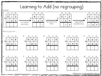 standard algorithm  digit addition  regrouping