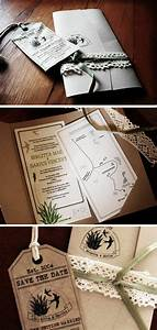 lovely invites swallows aloe and recycled brown paper With wedding invitations recycled brown paper