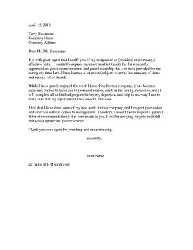 asking for letter of recommendation resign and ask for recommendation 38431