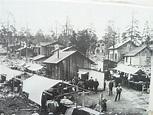 Malmberget, den vilda kåkstaden 1890-tal. Foto Norrbottens ...