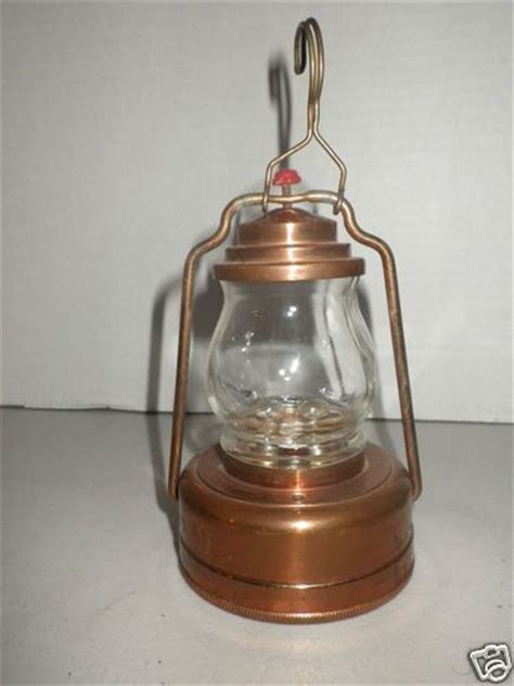 rare miniature oil l lantern copper metal hilco hong