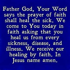 Prayer - Healin... Sick Room Quotes