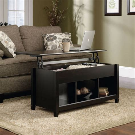 Process for building your lift top coffee table: Black Wood Finish Lift-Top Coffee Table with Bottom Storage Space   FurnishingsPlace.com