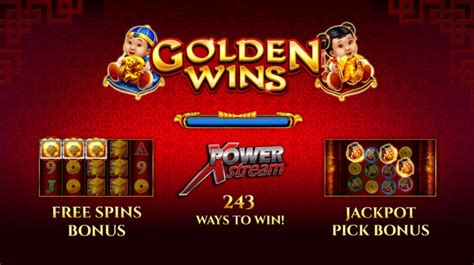 Review the free play Golden Wins slot thought up by AGS
