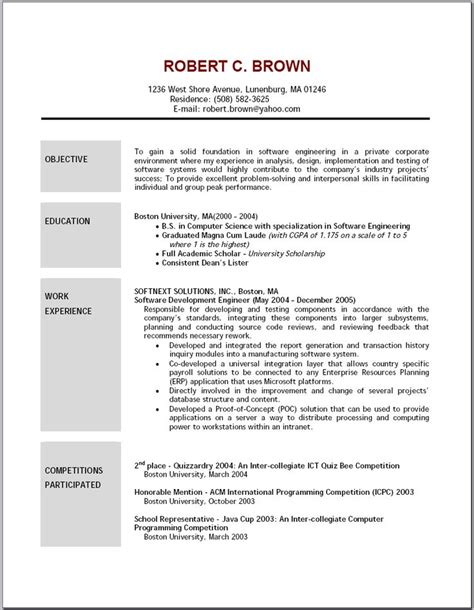 Resume Site Template by 25 Unique Career Objective Exles Ideas On