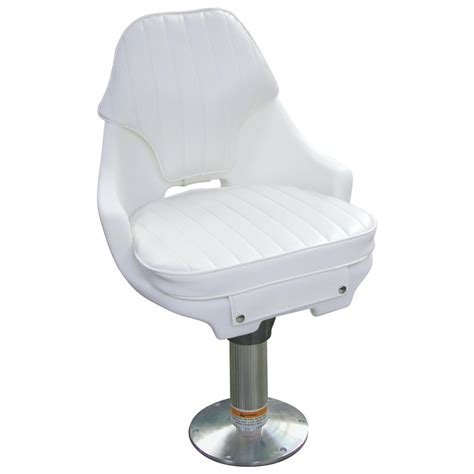 Boat Captains Chair With Pedestal by Wise 174 Offshore Captain S Chair Without Pedestal White