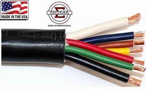 100ft 7 Way Conductor Multi Gauge Wire Rv Trailer Light