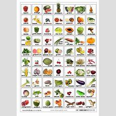 Free Printable Fruit Vegetable Bingo  Free English Flash Cards Fruits And Vegetables Food