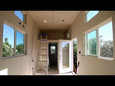 drywall in the tiny house