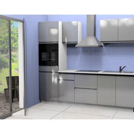 cuisine integree pas chere cuisine équipée 2 l255 cm coloris gris pas cher à prix auchan