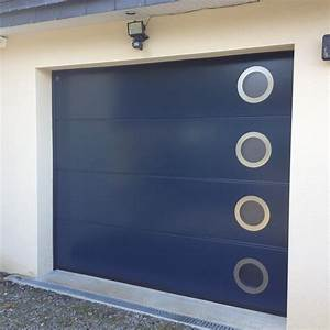 Porte de garage sectionnelle manuelle ou motorisee for Porte de garage harmonic