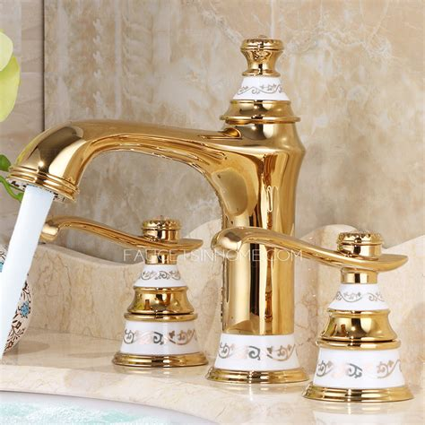 luxury bathroom sink faucets luxury polished brass two handles 3 hole bathroom faucet