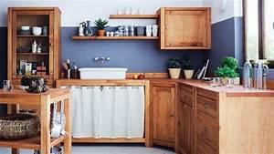 Meuble Style Campagne Chic : cuisine de campagne chic bois bassdona ~ Farleysfitness.com Idées de Décoration
