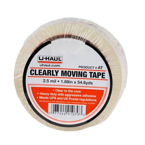 Uhaul Clearly Moving Tape
