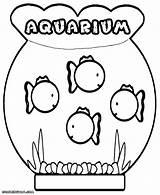 Aquarium Coloring Pages Print Fishes Colorings sketch template
