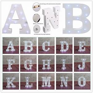 alphabet letter lights led light up white wooden letters With how to make light letters