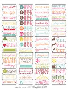 free template tutorial calendar stickers magnetic and